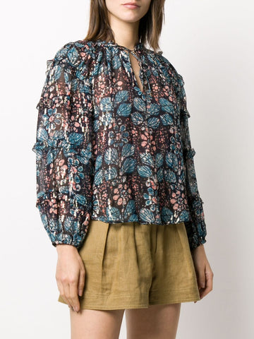 Roma abstract print blouse