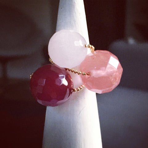 Gembuds Cherry Agate Ring