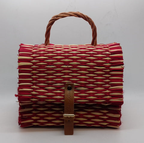 530a62723417 Traditional Straw Bag - Red Small ...