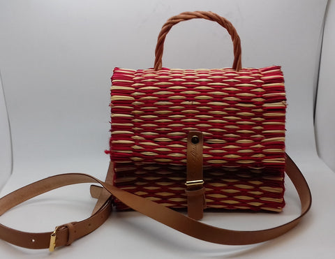 6961c7c82e2d ... Traditional Straw Bag - Red Small