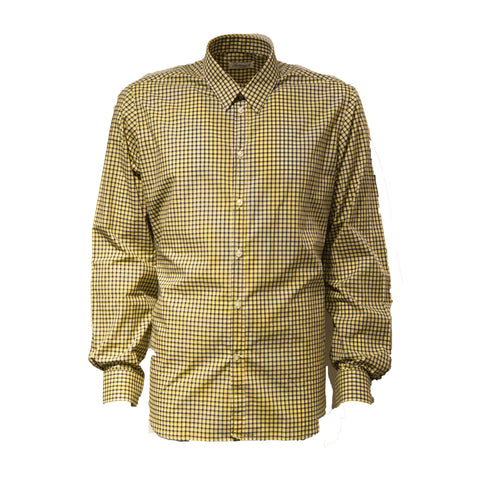 Cream/Green 100% Cotton Shirt