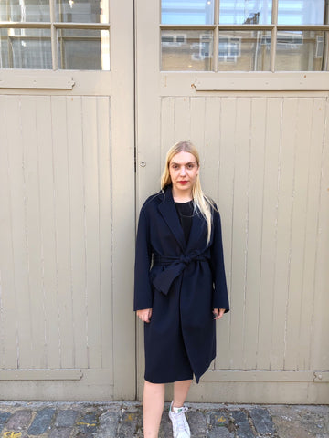 Wool Cappotto Coat - Navy Exclusive to The Place London