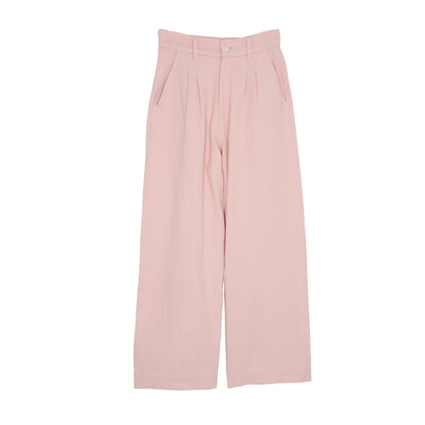 Pink Cotton Denim Trousers