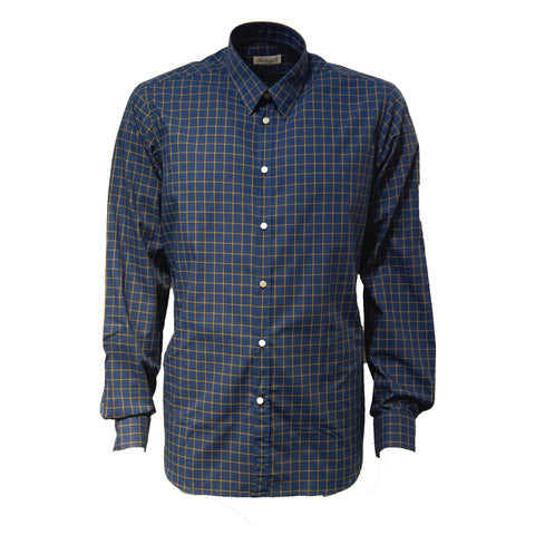 Navy Check 100% Cotton Shirt