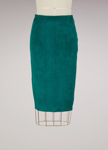 Gilda Suede Pencil Skirt