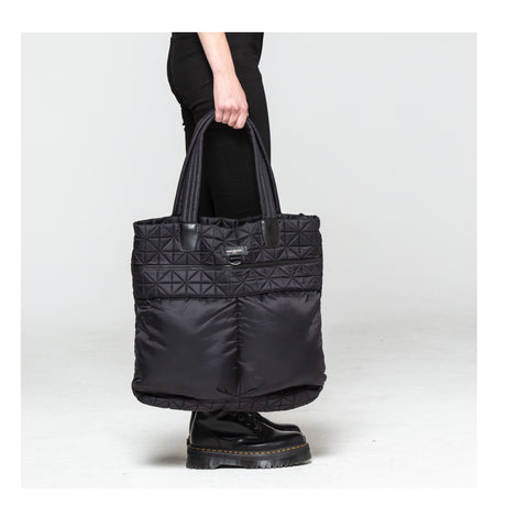 Vee Shopper Tote - Black