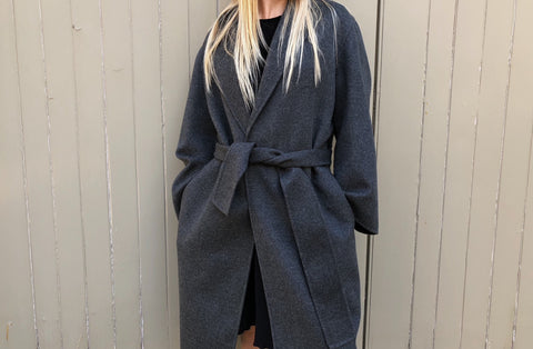 Double Cashmere Cappotto Coat - Grey Exclusive to The Place London