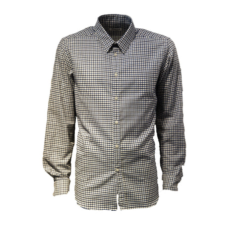 Blue Small Check 100% Cotton Shirt