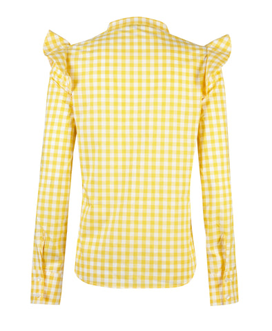 Fleur Cotton Shirt - Yellow
