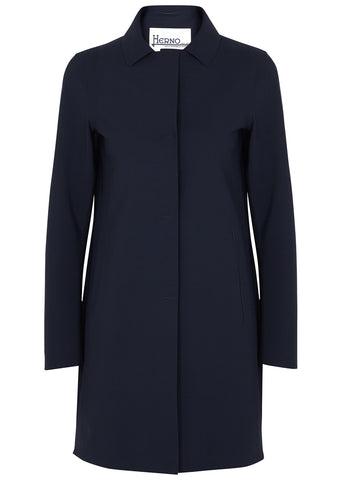 Single Breasted Coat - Navy