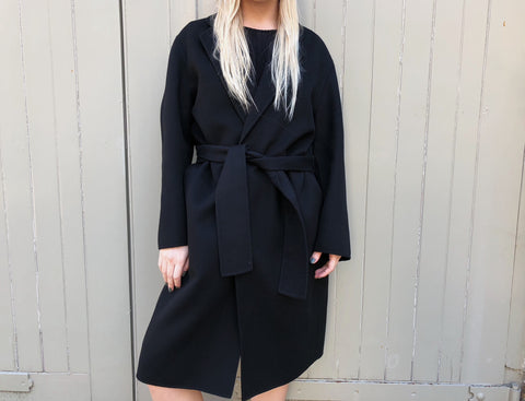 Double Cashmere Cappotto Coat - Black Exclusive to The Place London