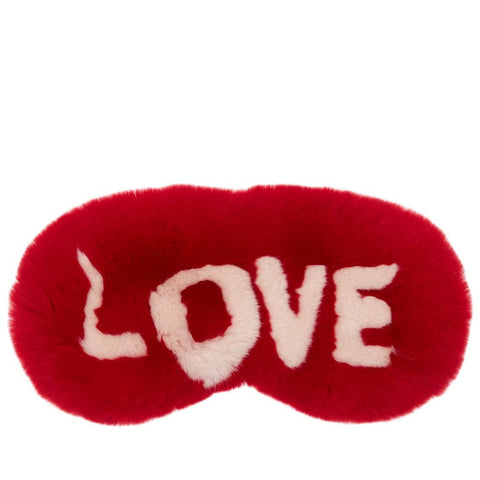 Rabbit Fur Eyemask - Love