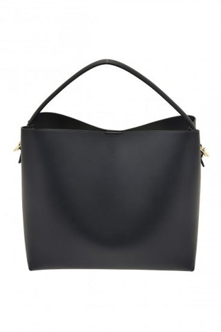 Alice Leather Shoulder Bag - Navy