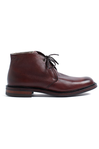 Burgundy fur lined boot