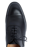 Black calf Oxford shoes