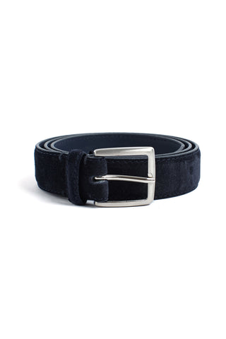Suede Belt - Navy