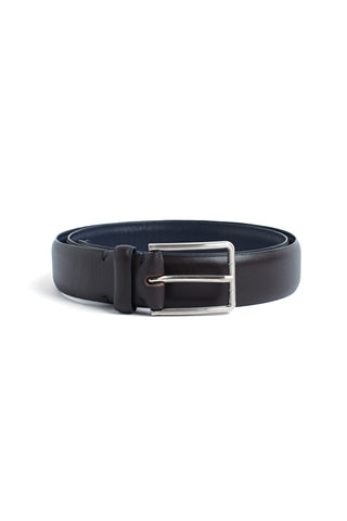 Classic Chocolate Leather Belt