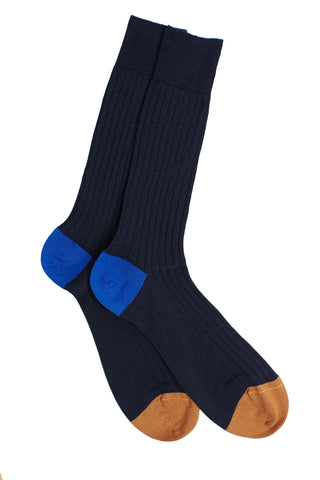 Stratford Navy multi Socks