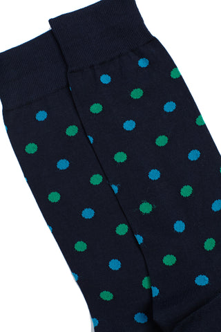 Barbican Navy multi Socks