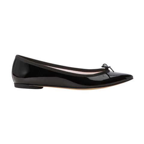 Brigette Ball Patent Leather Ballerina - Black