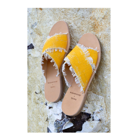 Brush Yellow Sandal