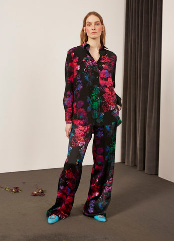 Hilary Bouquet Silk Trousers