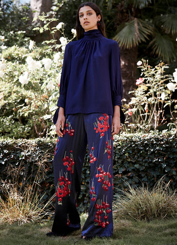 Cherry Silk Trousers