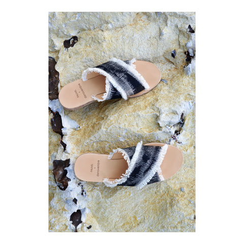 Brush Black Sandal