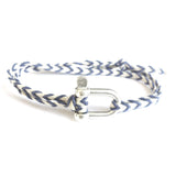 Braided Bracelet Large Manille Silver 925 - Purple