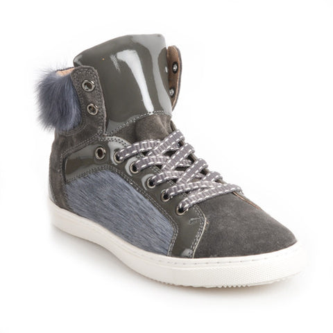 FALKLAND Grey high-top Sneaker