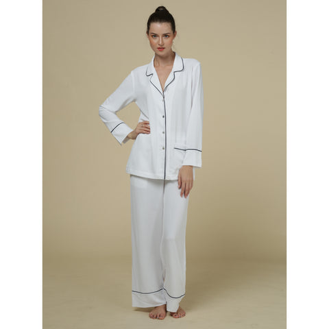 White Silk/Bamboo Pyjamas