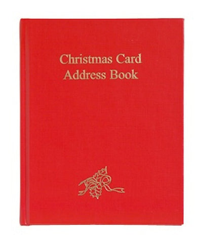 CHRISTMAS CARD ADDRESS BOOK CC86B Red or Green
