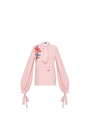 Pink Shirt With Applique Detail