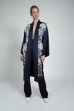 Eda Silk Embroidered Long Kimono