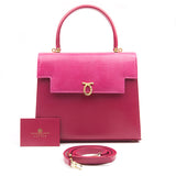 Traviata Handbag in Calf and Lizard flap - Pink