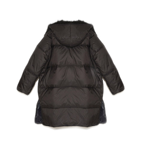 Black Lamb Reversible Coat
