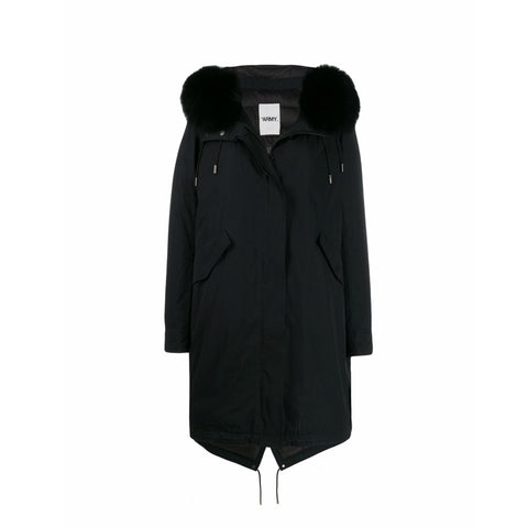 Black Rabbit Fox Parka