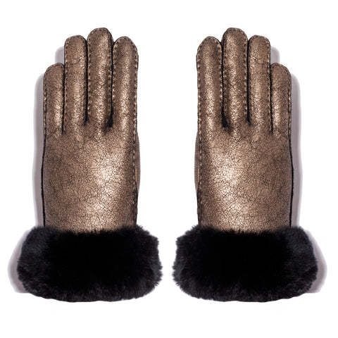 Shearling Glove - Black