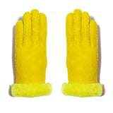 Shearling Neon Glove - Yellow