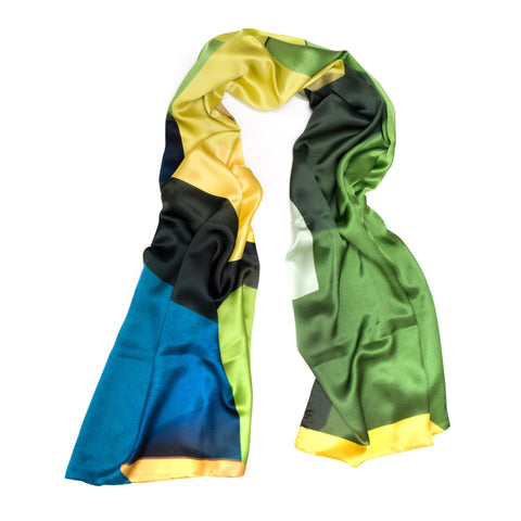 Green Multi Blocks Scarf