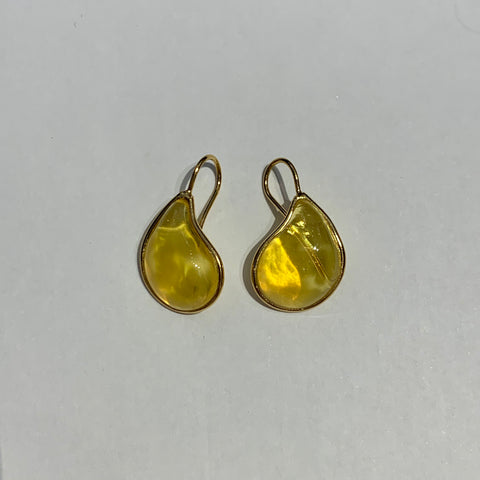 Teardrop Earrings - Amber