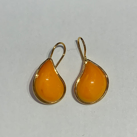 Teardrop Earrings - Orange