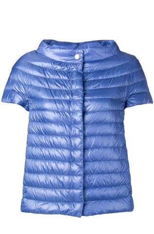 Sleeveless Puffer Jacket - Blue