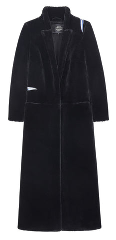 Birds Eco Fur Long Coat
