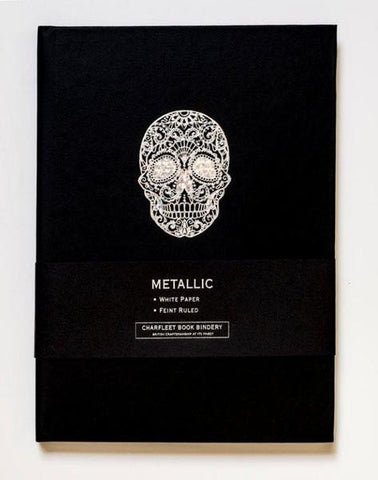 A5 SKULL NOTEBOOKS - NB86SKL Black/Gold or Black/Silver