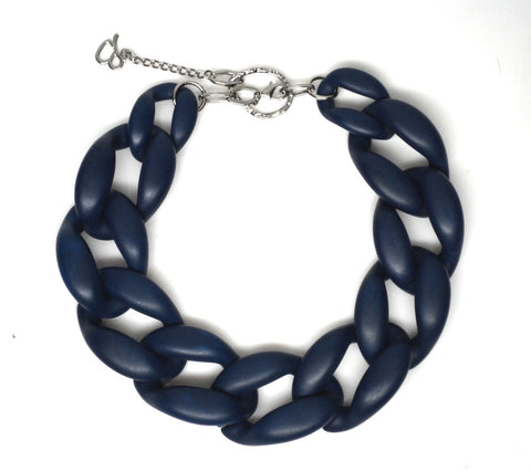 Nathan Matte Navy Necklace
