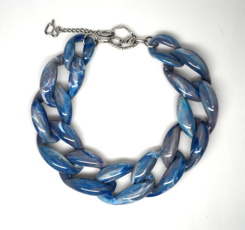 Nathan Blue Marble Necklace
