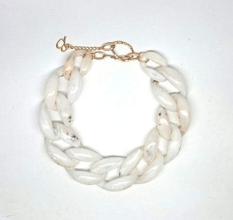 Nathan White Torta Necklace