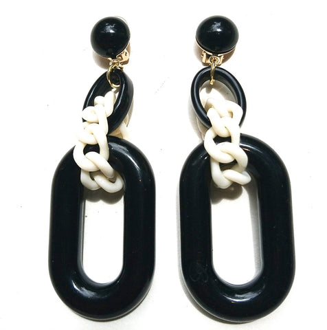 Nobu Earrings - Black/Milk