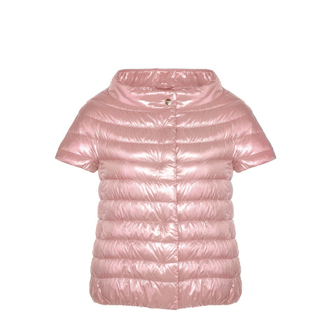 Sleeveless Puffer Jacket - Pink